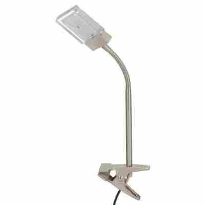 LED-Klemmleuchte nickelfarben 7,5 x 29,2 cm