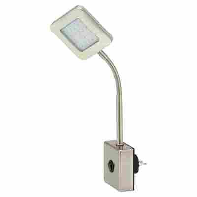 LED-Steckerleuchte silbern