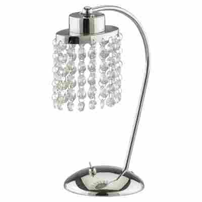 LED-Tischleuchte 'Cristallo' chromfarben 19 x 30,5 cm