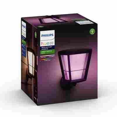 LED-Laterne 'Hue White & Color Econic' schwarz 1150 lm