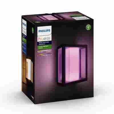 LED-Wandleuchte 'Hue White & Color Impress' schwarz 1200 lm