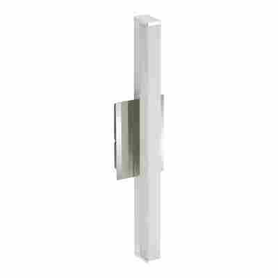 LED-Wandleuchte Bad 'Splash' chromfarben/weiß 6 W 37 x 8 x 6,5 cm