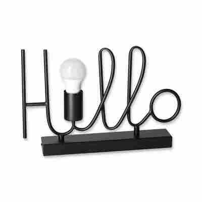 Tischleuchte 'Hello' schwarz 36 x 24 cm