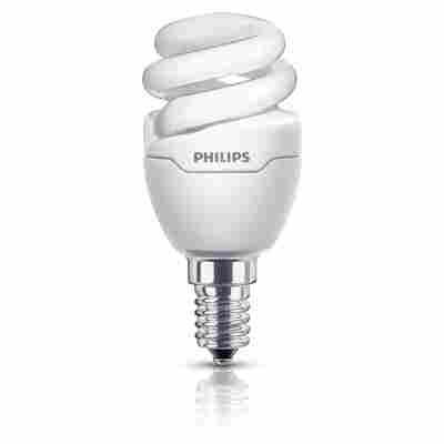 Energiesparlampe 'Tornado mini' Slim Fit warmweiß E14 5 W