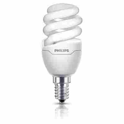 Energiesparlampe 'Tornado Mini' Slim Fit warmweiß E14 8 W