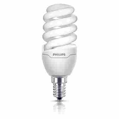 Energiesparlampe 'Tornado' Slim Fit warmweiß E14 12 W