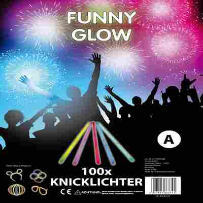 Knicklichter 'Funny Glow' 100er-Set