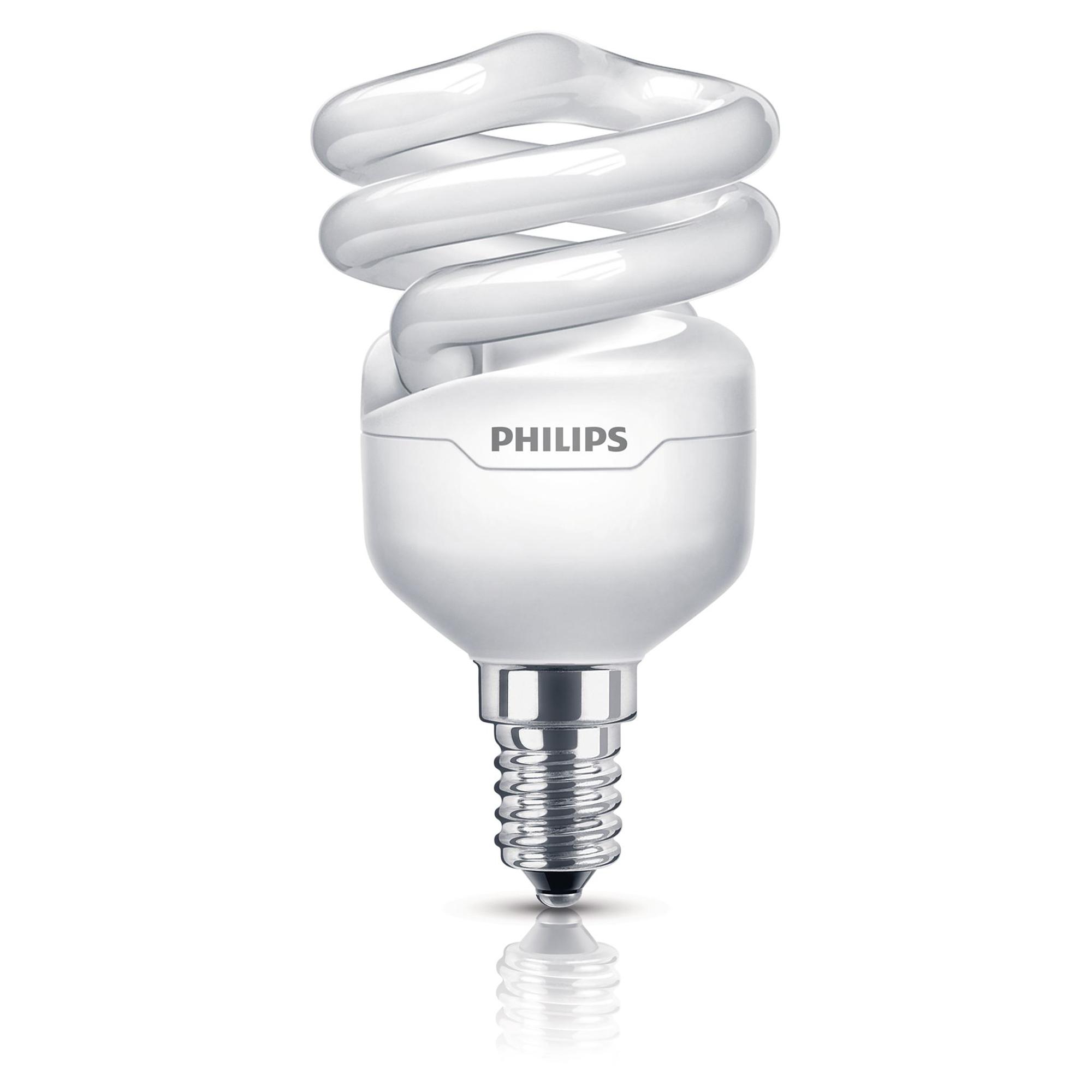 Philips Energiesparlampe 'Tornado' tageslichtweiß E14 12 W   Lampen > Leuchtmittel > Energiesparlampen   Philips
