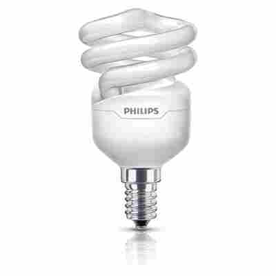 Energiesparlampe 'Tornado' tageslichtweiß E14 12 W