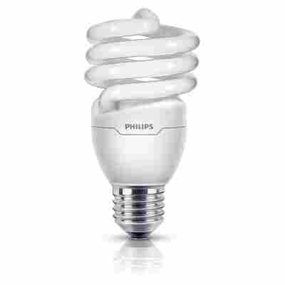 Energiesparlampe 'Tornado' warmweiß E27 20 W