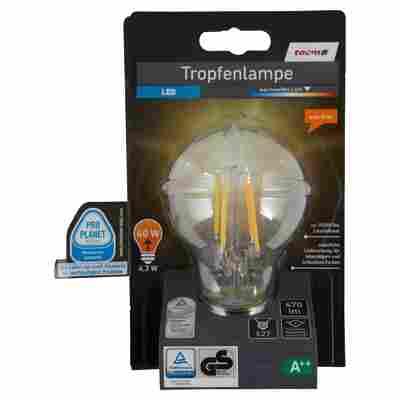 LED-Tropfenlampe E27 470 lm 4,3 W warmweiß