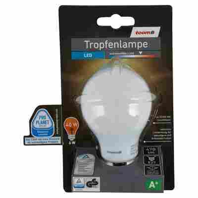 LED-Tropfenlampe E27 470 lm 6 W warmweiß