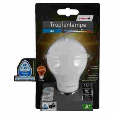 LED-Tropfenlampe E27 806 lm 10 W warmweiß