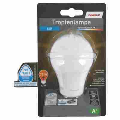 LED-Tropfenlampe E27 1055 lm 12 W warmweiß