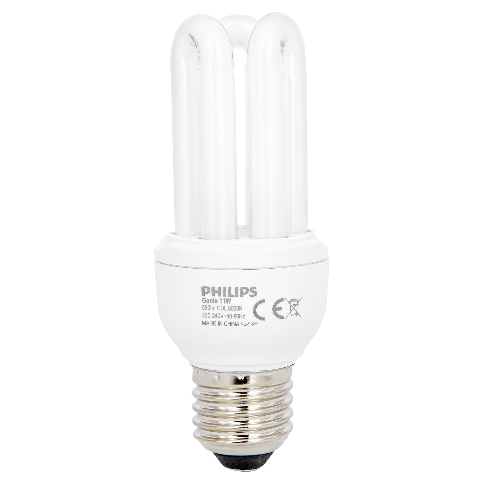 Philips Energiesparlampe 'Genie' E27 11 W tageslichtweiß   Lampen > Leuchtmittel > Energiesparlampen   Philips