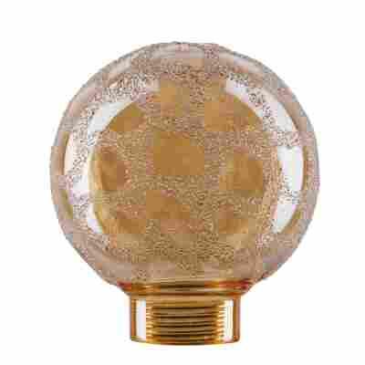 Lampenglas 'Globe' für Minihalogen Goldkrokoeis