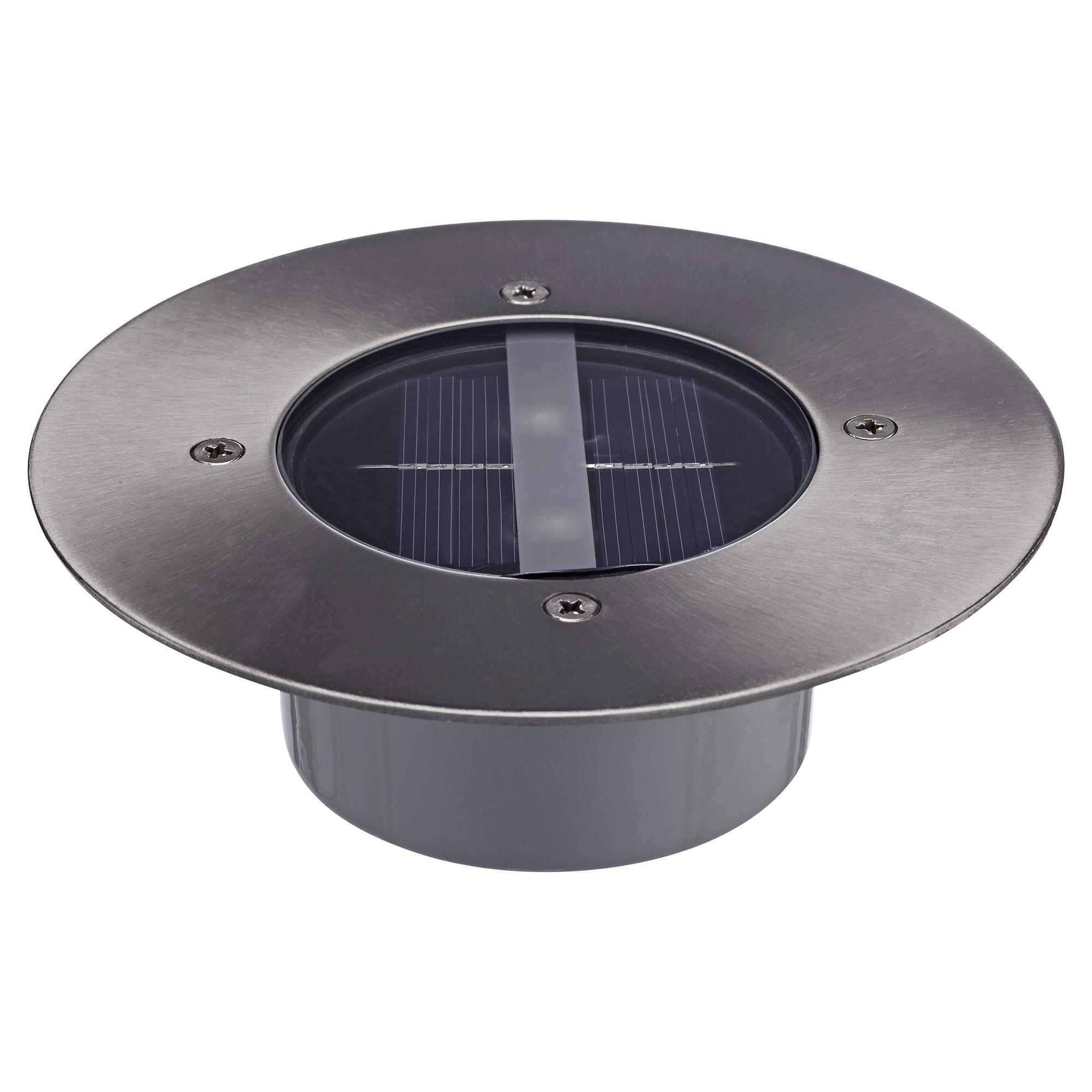Beliebt toom Solar-Bodeneinbaustrahler rund silbern Ø 14 cm ǀ toom Baumarkt XH12