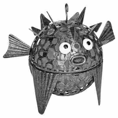 LED-Solarleuchte 'Fisch' silbern