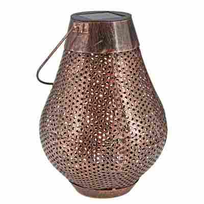 LED-Solarlaterne 'Orient' kupferfarben Ø 18,5 x 25,7 cm