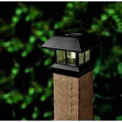 LED-Solar-Zaunleuchte schwarz 15,2 x 12,4 cm