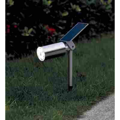 LED-Solar-Bodenstrahler 31 cm edelstahl