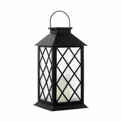 Solar-LED-Laterne schwarz satiniert