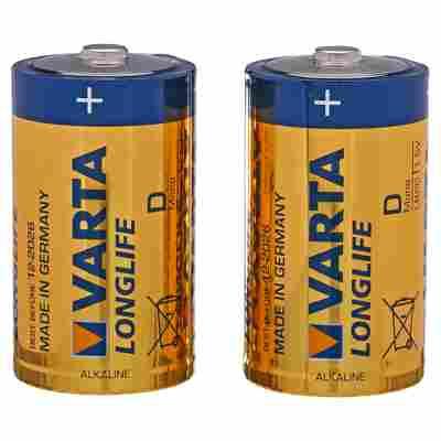 """Batterien """"Longlife"""" D Alkaline 2 Stück"""