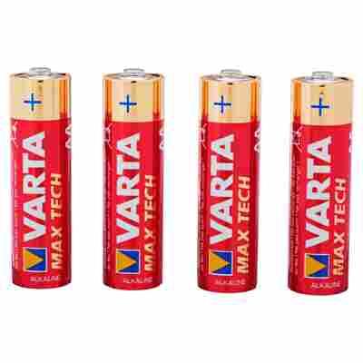 """Batterien """"Max Tech"""" AA Alkaline 4 Stück"""