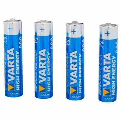 """Batterien """"High Energy"""" AAA Alkaline 4 Stück"""