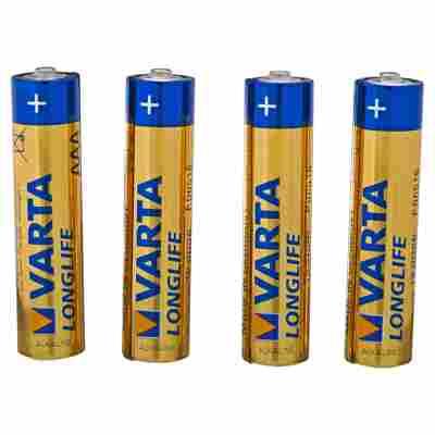 """Batterien """"Longlife"""" AAA Alkaline 4 Stück"""