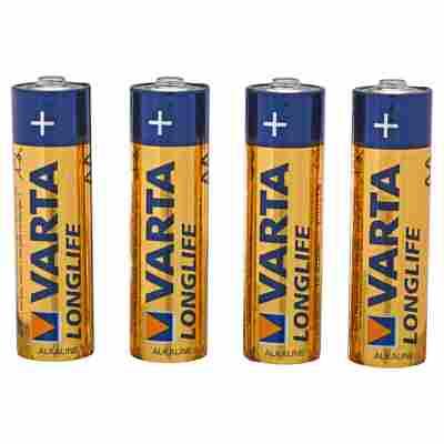 """Batterien """"Longlife"""" AA Alkaline 4 Stück"""