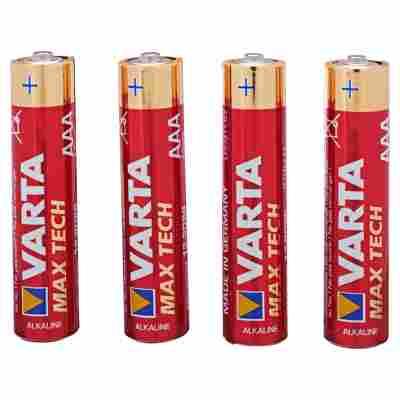 """Batterien """"Max Tech"""" AAA Alkaline 4 Stück"""