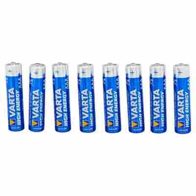 """Batterien """"High Energy"""" AAA Alkaline 8 Stück"""