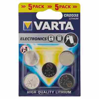 Varta Knopfzelle CR2032 Lithium 5 Stück
