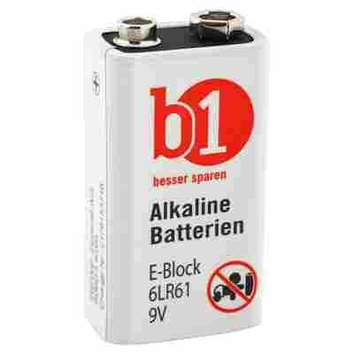 E-Block-Batterien 6LR61 9 V, 2 Stück