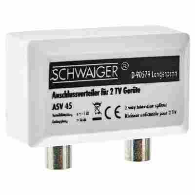 """TV-Anschlussverteiler """"Antenna"""" ASV45 2-fach weiß"""