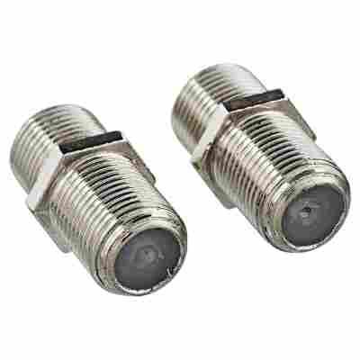 F-Verbinder silbern 2 Stück