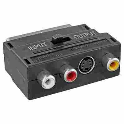 Video-AV-Adapter 3x Cinch/S-VHS/Scart