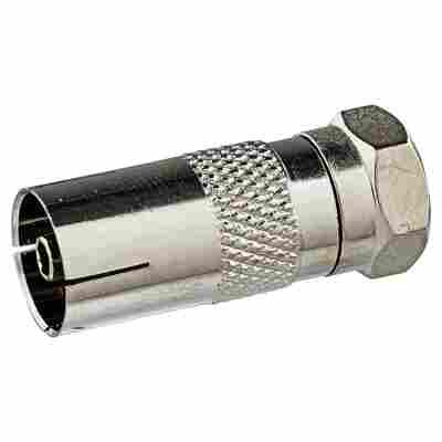Adapter F-Stecker/IEC-Buchse