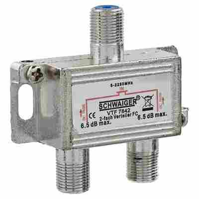 Verteiler Kabel/Antenne/SAT 2-fach