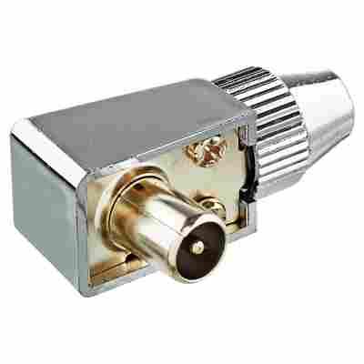 """IEC-Winkelstecker """"Antenna"""" Professional WST30 verchromt"""