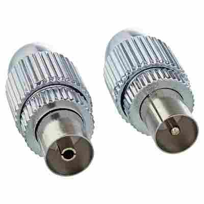 IEC-Stecker/IEC-Buchse vernickelt