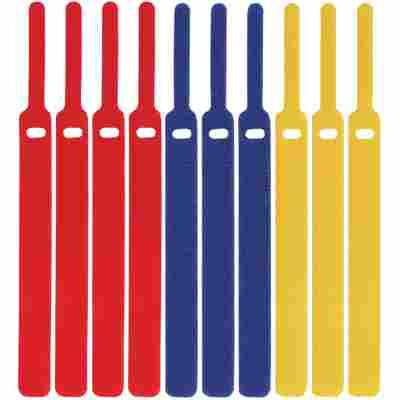 Klettkabelbinder 'LTC Basic Straps' mehrfarbig