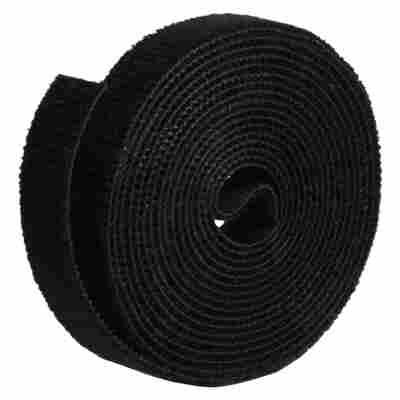 Doppelseitige Klettbandrolle 'LTC Roll Strap' 3 m schwarz