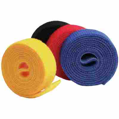 Doppelseitige Klettbandrolle 'LTC Roll Straps' 1 m mehrfarbig 4 Stück