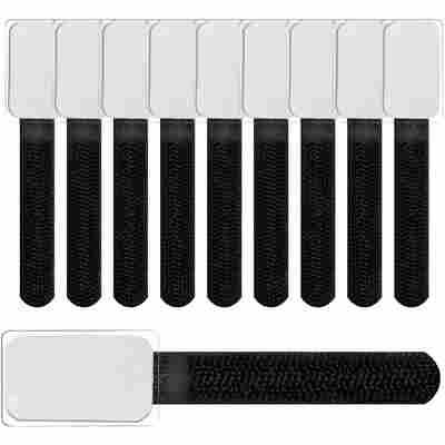 Klettbinder mit Beschriftungsfeld 'LTC Mini Tags' schwarz 10 Stück