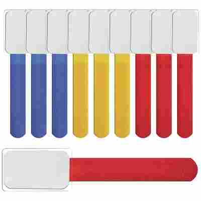 Klettbinder mit Beschriftungsfeld 'LTC Mini Tags' mehrfarbig 10 Stück