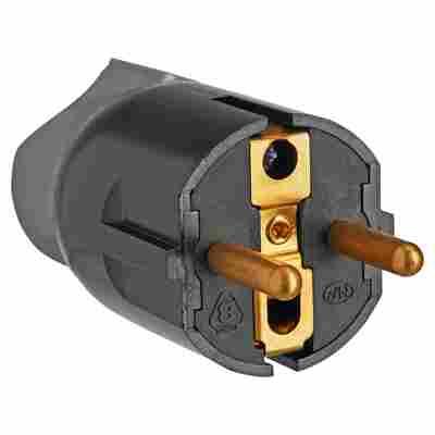 Schukostecker drehbare Einführung schwarz 16 A 230 V