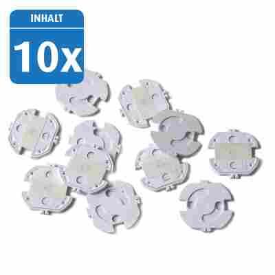 Steckdosenschutz klebbar 10 Stück weiß