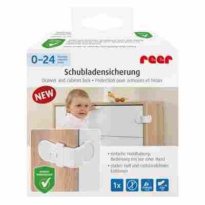 Schrank- und Schubladensicherung weiß klebbar